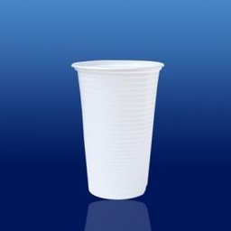[CC-300BR/1] VASO 300ml BLANCO PS (1/100)